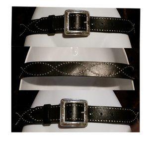 ✅Brighton studded fashion black leather belt sz 30